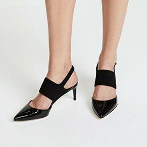 TORY BURCH black ASHTON Sandal Slingback Heel sz 9